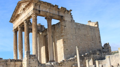 Dougga, Treasure of Tunisia lying over the hills
