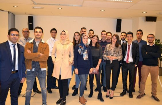 A group of Tunisian students enrolled in the IOM program   Photo: IOM