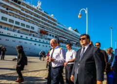 "Cruise ship ""Amira"" docks Thursday at La Goulette with 664 tourists"
